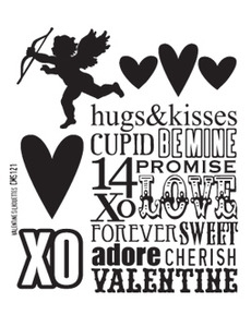 Tim Holtz Cling Rubber Stamps VALENTINE SILHOUETTES cms121 zoom image