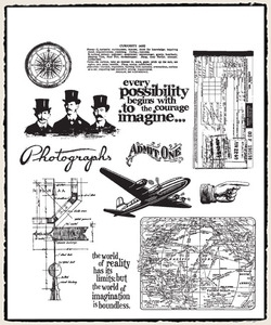 Tim Holtz Cling Rubber Stamps WAREHOUSE DISTRICT CMS124