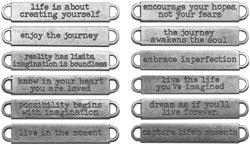 Tim Holtz Idea-ology Metal WORD BANDS TH93000
