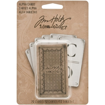 Tim Holtz Idea-ology ALPHA CARDS Alphabet TH93006