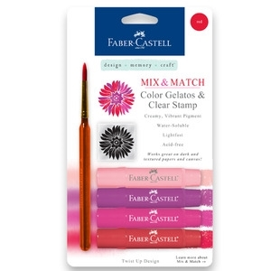 Faber-Castell RED Gelatos Clear Stamp and Brush 4pk 770156