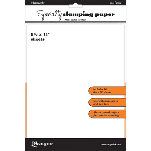 Ranger Inkssentials 8.5 x 11 SPECIALTY STAMPING PAPER ISP32908 Preview Image