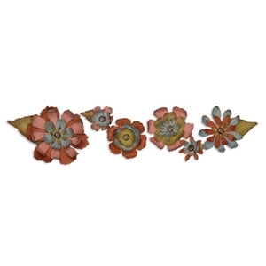 Tim Holtz Sizzix Die TATTERED FLOWER GARLAND Decorative Strip Sizzlits 657824 zoom image