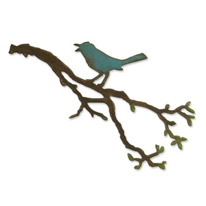 Tim Holtz Sizzix Bigz Die BIRD BRANCH 657833 Preview Image