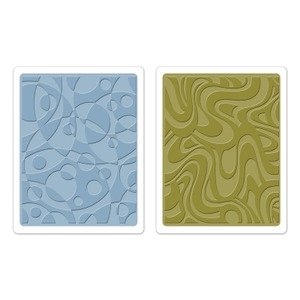 Tim Holtz Sizzix RETRO CIRQUE SET Texture Fades Embossing Folders 657847