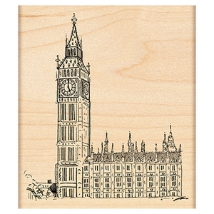 Penny Black Rubber Stamp HOUSES OF PARLIAMENT 4223K