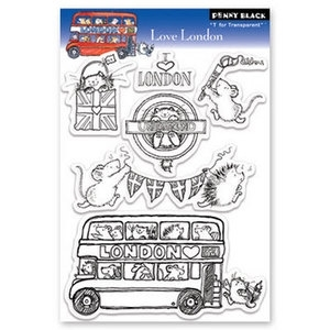 Penny Black Clear Stamps LOVE LONDON 30-093