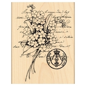 Penny Black Rubber Stamp SCENTED MESSAGE 4239K