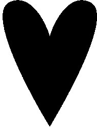 Tim Holtz Rubber Stamp HEART SILHOUETTE Stampers Anonymous K5-1784 Preview Image