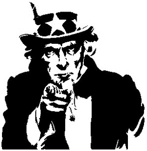 Tim Holtz Rubber Stamp UNCLE SAM SILHOUETTE Stampers Anonymous P1-1791 Preview Image