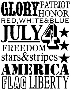 Tim Holtz Rubber Stamp AMERICANA WORDS Stampers Anonymous X1-1792 Preview Image