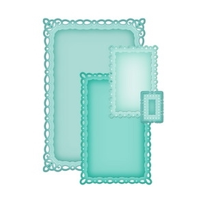 S5-090 Spellbinders ROMANTIC RECTANGLES Dies
