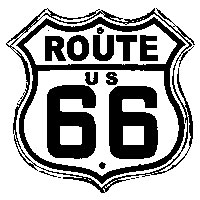 Tim Holtz Rubber Stamp ROUTE 66 Stampers Anonymous H1-1804