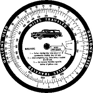 Tim Holtz Rubber Stamp MILEAGE WHEEL Stampers Anonymous P1-1807 Preview Image