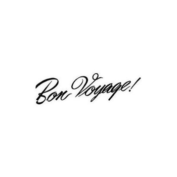 Tim Holtz Rubber Stamp BON VOYAGE Stampers Anonymous K4-1811