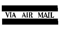 Tim Holtz Rubber Stamp AIR MAIL Stampers Anonymous D4-1815