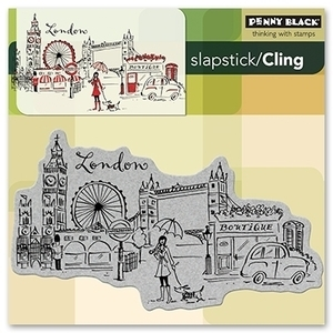 Penny Black Cling Stamp LONDON Rubber Unmounted 40-116 zoom image