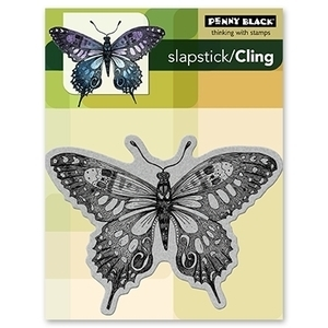 Penny Black Cling Stamp SOFT WINGS Rubber Unmounted 40-099 zoom image
