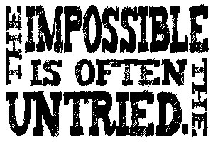 Tim Holtz Rubber Stamp THE IMPOSSIBLE Stampers Anonymous K1-1826 Preview Image
