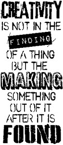 Tim Holtz Rubber Stamp FOUND Stampers Anonymous P5-1828