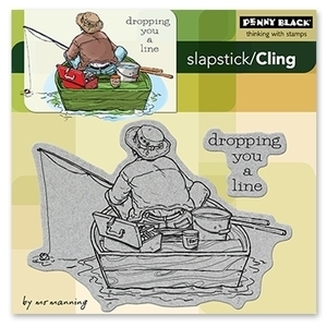 Penny Black Cling Stamps DROPPING YOU A LINE Rubber Unmounted 40-129