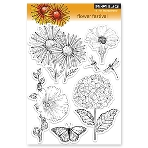 Penny Black Clear Stamps FLOWER FESTIVAL 30-095