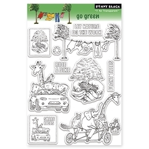Penny Black Clear Stamps GO GREEN 30-094