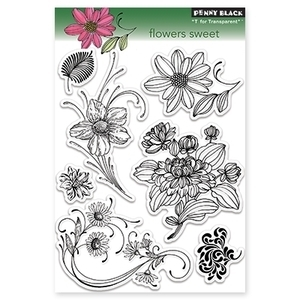 Penny Black Clear Stamps FLOWERS SWEET 30-096