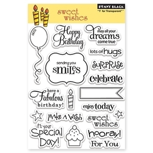 Penny Black Clear Stamps SWEET WISHES 30-104*