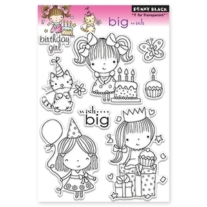 Penny Black Clear Stamps BIG WISH Mimi 30-098*