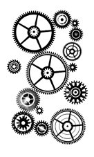 Paper Artsy MINI 60 Gears Rubber Cling Stamp MN60 Preview Image