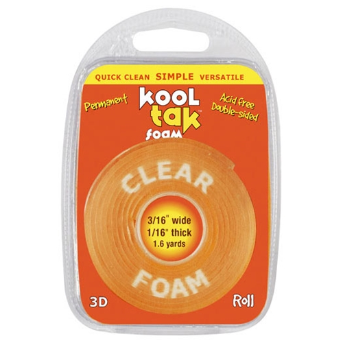 Kool Tak DOUBLE-SIDED TAPE Clear Foam Adhesive Preview Image