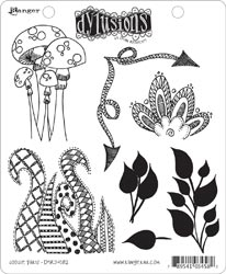 Dyan Reaveley DOODLE PARTS Stamp Set Dylusions Cling Unmounted Rubber DYR34582*