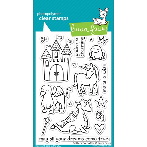Lawn Fawn CRITTERS EVER AFTER Clear Stamps Preview Image