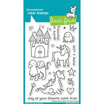 Lawn Fawn CRITTERS EVER AFTER Clear Stamps
