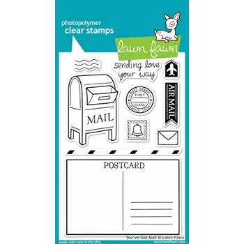 Lawn Fawn YOU'VE GOT MAIL Clear Stamps