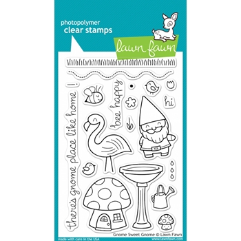 Lawn Fawn GNOME SWEET GNOME Clear Stamps