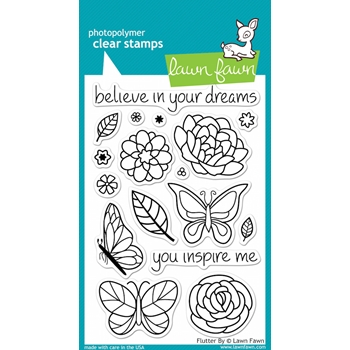 Lawn Fawn FLUTTER BY Clear Stamps
