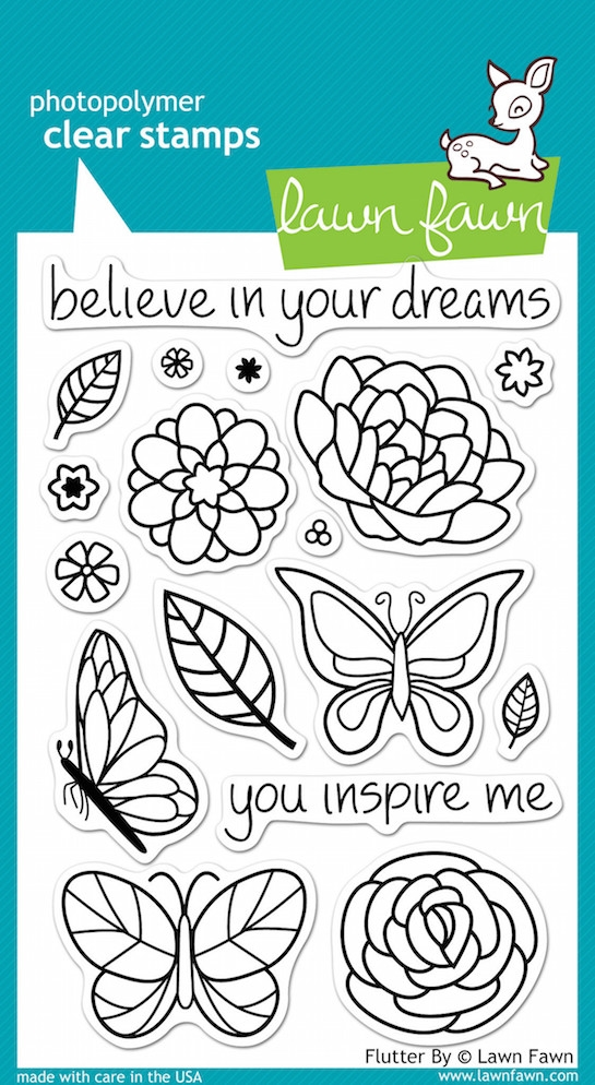 Lawn Fawn FLUTTER BY Clear Stamps zoom image