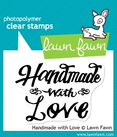 Lawn Fawn HANDMADE WITH LOVE Clear Stamp