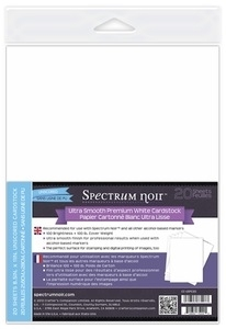 Crafter's Companion 20 PACK ULTRA SMOOTH PREMIUM WHITE CARDSTOCK CC-USPC20