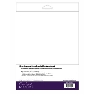 Crafter's Companion 50 PACK ULTRA SMOOTH PREMIUM WHITE CARDSTOCK cc-uspc50