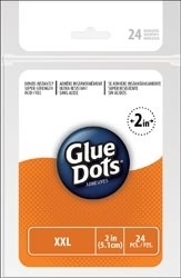 24 Glue Dots XXL 2 Inch Adhesives Clear Sheets*