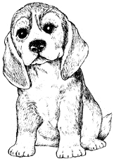 Impression Obsession Cling Stamp BEAGLE E7670 Preview Image