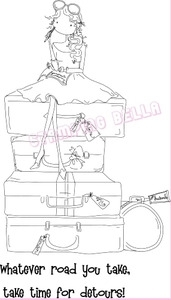 Stamping Bella Cling Stamp UPTOWN GIRL MOLLY MAKES A DETOUR Rubber UM EB209 Preview Image