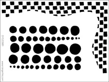 Dyan Reaveley Stencil 5 X 8 CHEQUERED DOTS Dylusions DYS34216