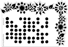 Dyan Reaveley Stencil 5 x 8 DOTTED FLOWERS Dylusions DYS34247