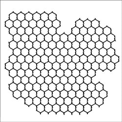 The Crafter's Workshop MINI REVERSED CHICKENWIRE 6x6 Template TCW259S Preview Image