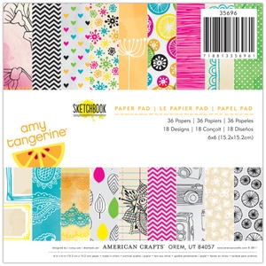 American Crafts Amy Tangerine SKETCHBOOK 6 X 6 Paper Pad* Preview Image