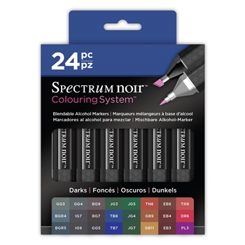 Crafter's Companion DARKS 24 SET Spectrum Noir Markers SPENC-DARKS24